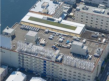 駐車場完備で電源車の配置可能