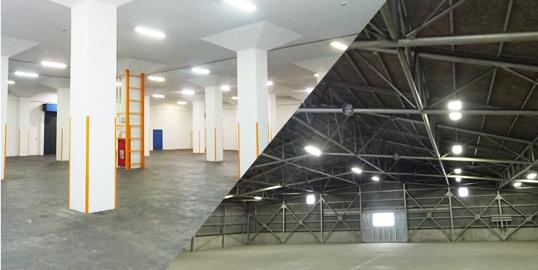 倉庫によって窓・柱の有無を選択可能